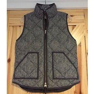 Jcrew Grey Houndstooth Excursion Vest